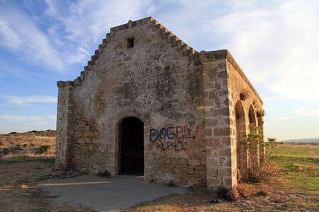 kibris: Old greek church on the coast of north Cyprus