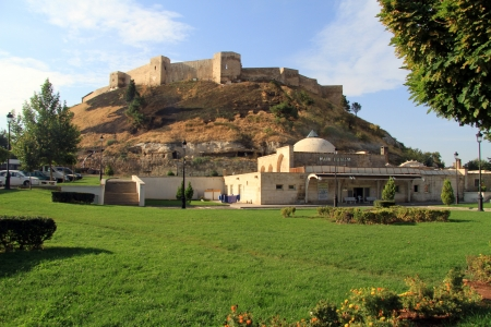Old fortress on the hill in Gaziantep, Turkey Editorial