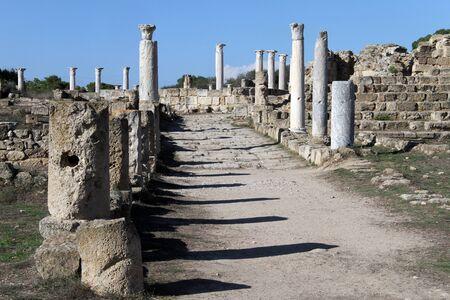 kibris: Marble street in Salamis, North Cyprus