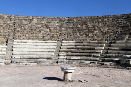 kibris: Ancient theater in Salamis, North Cyprus Stock Photo
