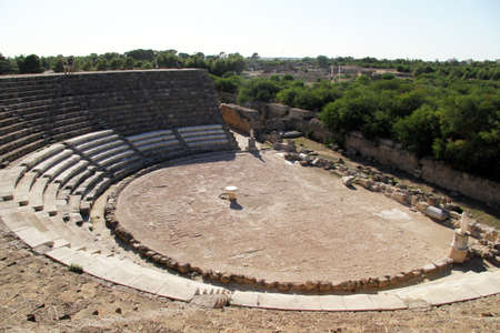 Theater in greek town Salamis in North Cyprus photo