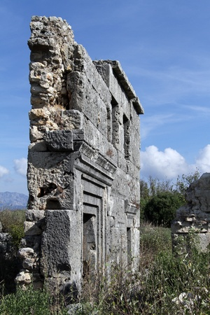 Ruins of ancient temple in Silyon, Turkey Stock Photo - 16645486