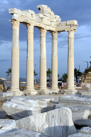 Ruins of Apollo temple in Side, Turkey photo