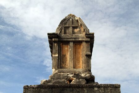 atone: Tomb on the ruins of Ksanfos in Turkey