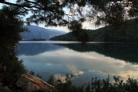 oludeniz: Oludeniz bay and trees near Fethie, Turkey