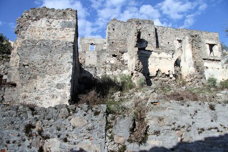 kayakoy: Ruined house in greek village Kayakoy, Turkey