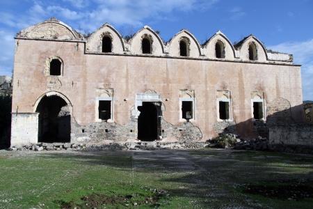 kayakoy: Ruins of old greek orthodox church in Kayakoy, Turkey