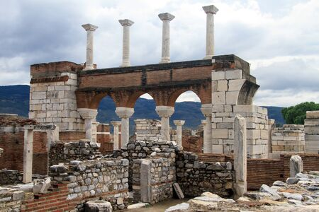 Ruins of Saint John basilica in Selcuk, Turkey photo