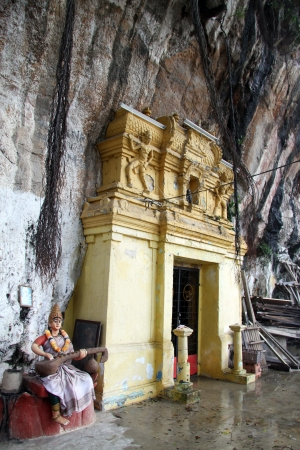 Facade of hindu cave temple in Ipoh, Malaysia
