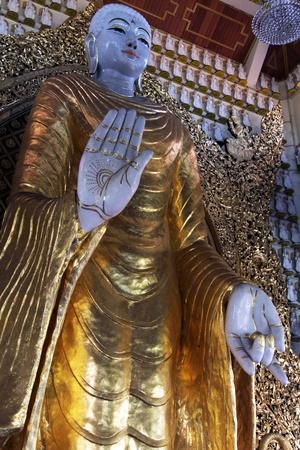 Statue of Buddha in burmese temple in Georgetown in Malaysia Stock Photo - 17357372