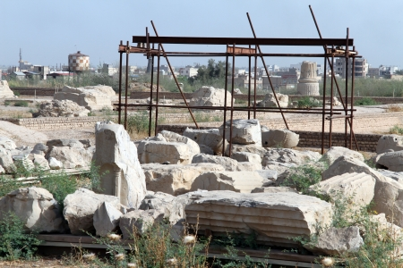 shush: Ruins of ancient temple in old Shush, Iran
