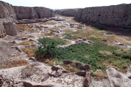 shush: OLd ruins in ancient toewn Shush in Iran Stock Photo