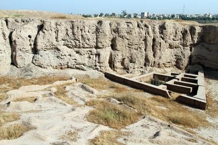 shush: Ruins of old town Shush in Iran Stock Photo