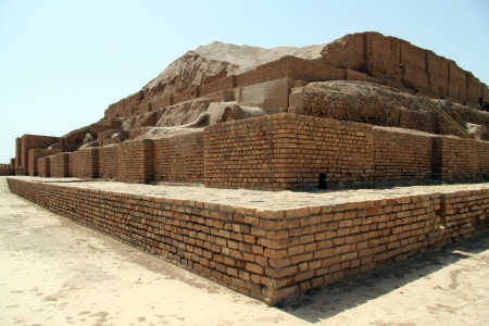 Brick ziggurat Choqa Zanbil near Shush, Iran photo