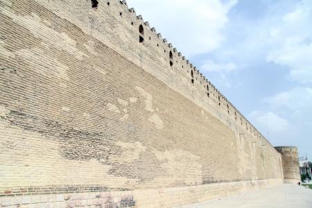 khan: Long wall of fortress Arg-e Karim Khan in Shiraz, Iran