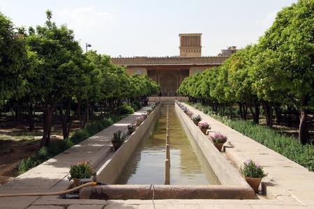 khan: Park with fountain in Arg-e Karim Khan fortress in Shiraz, Iran