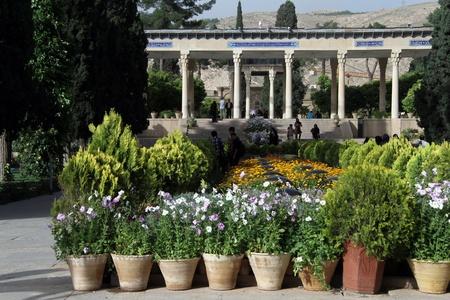 hafez: Flowers near tomb of Hafez in Shiraz, Iran