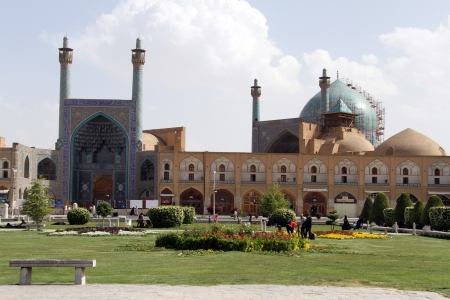 esfahan: Imam mosque on the Naqsh-e Jahan Square in Esfahan, Iran
