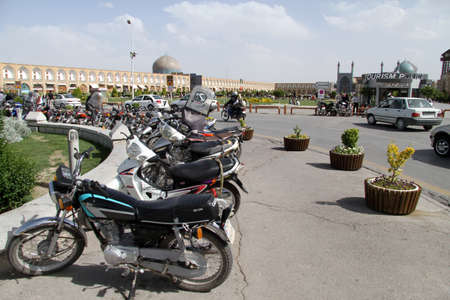 esfahan: Bikes on the Imam square in Esfahan, Iran