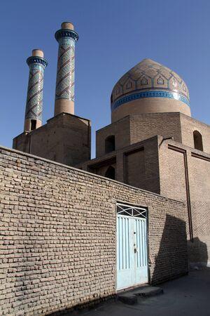 esfahan: Mosque with high minarets in Esfahan, Iran