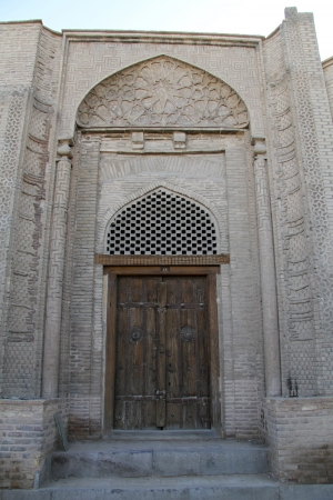 Old wooden door in Esfahan, Iran