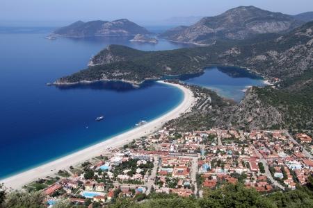 oludeniz: Oludeniz town on the coast near Fethie, Turkey Stock Photo