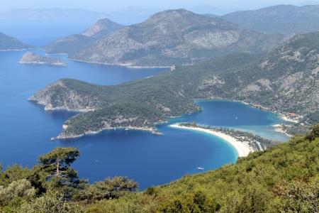 oludeniz: Oludeniz bay near Fethie in Turkey Stock Photo