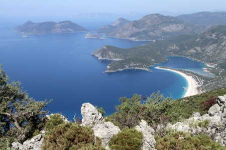 View of Oludeniz bay near Fethie in Turkey photo