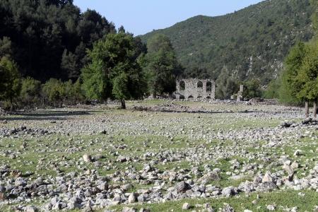 angel gabriel: Field and ruins of church Angel Gabriel near Demre in Turkey