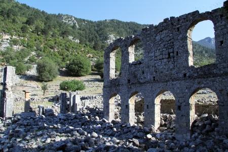 angel gabriel: Ruins of church Angel Gabriel near Demre, Turkey