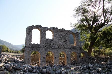 angel gabriel: Arches of church Angel Gabriel near Demre in Turkey Stock Photo