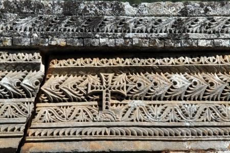 ornamente: Ornamente and cross on the wall of church Angel Gabriel in Turkey