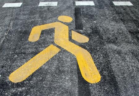 pictogramm: Yellow sign on the street in Antalya, Turkey