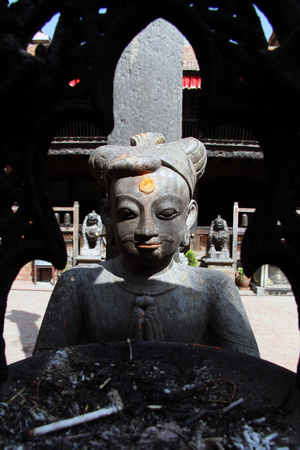 divinity: Statue of divinity in buddhist temple in Patan, Nepal