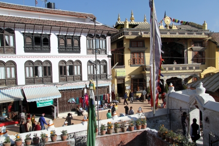 bodnath: Temple and buildings near stupa Bodnath in Kathmandu, Nepal