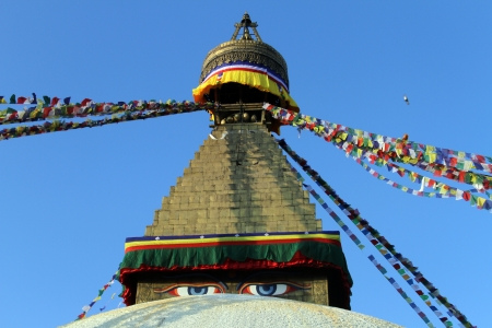 bodnath: Top of stupa Bodnath in Kathmandu, Nepal