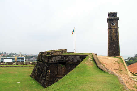 galle: Tower and wall of fortress in Galle, Sri Lanka