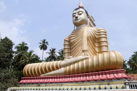 Big statue of Buddha in Wewurukannala Vihara near Dikwella, Sri Lanka