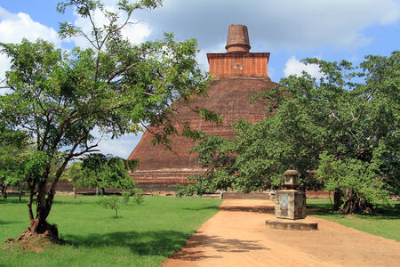 dagoba: Jetavanarama Dagoba and Using in Anuradhapura, Sri Lanka Stock Photo