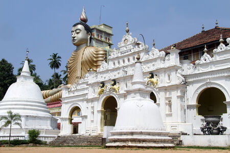 Temple and Buddha in Wewurukannala Vihara, Sri Lanka