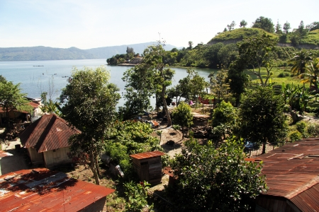 Ambarita village on the SAmosir island on the lake Toba, Indonesia Stock Photo - 24869817