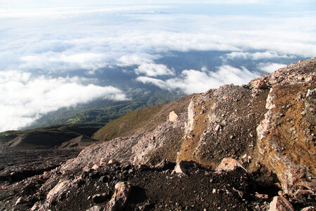 volcano slope: View from slope of volcano Kerinci in Indonesia