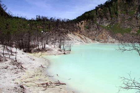 crater lake: Crater lake Kawah Putih near Bandung, Indonesia