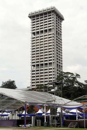 Skyscraper on the Merdeka square in Kuala Lumpur, Malaisya photo