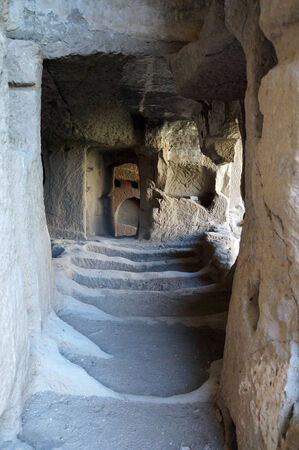 Inside rock church in Ihlara valley in Cappadocia                                photo