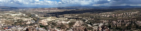 Panorama view from the top of Kale in Uchisar, Cappadocia                                photo