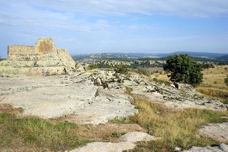 midas: Big rock altar in Midas, Turkey