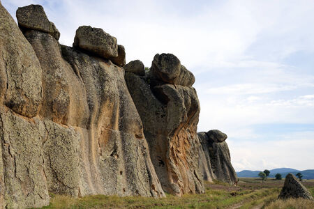 formations: Rock formations near Doger, Turkey Stock Photo