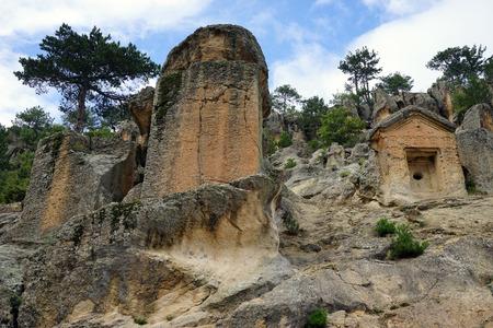 Phrygian rock tomb, Turkey Stock Photo