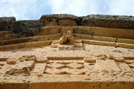 Facade of Phrygian rock tomb Stock Photo